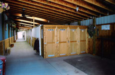 Private tack lockers and saddling area for stalls